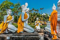 buddha statues at Wat Yai Chai Mongkhon Ayutthaya Bangkok Thailand