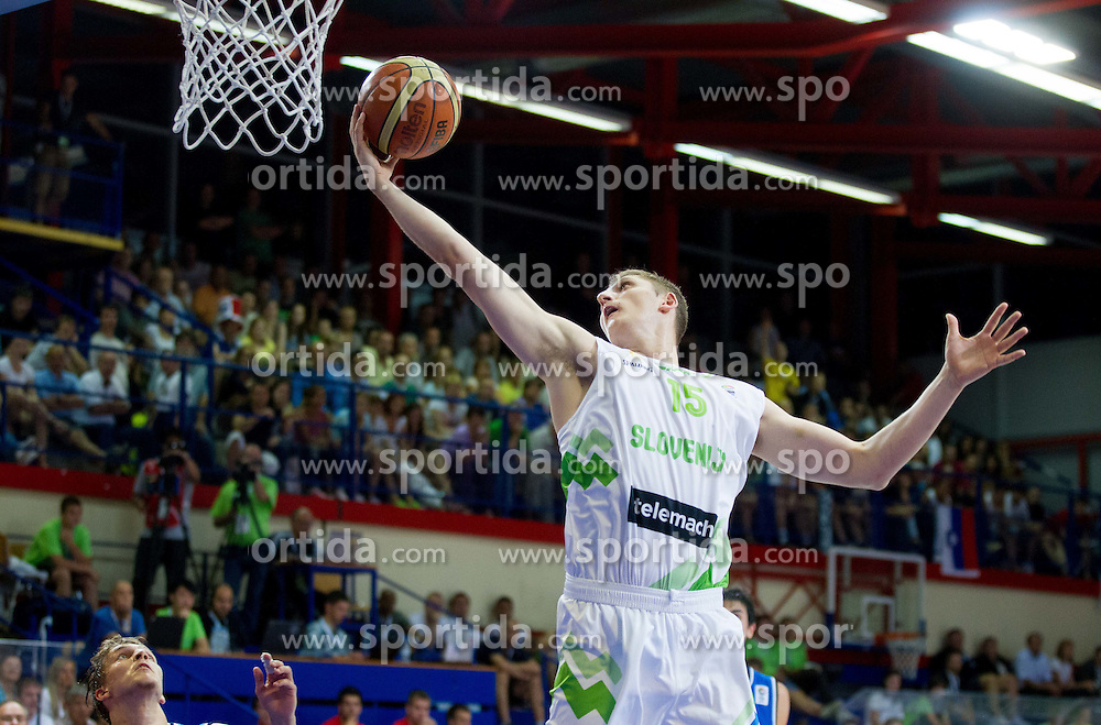 Gezim Morina of Slovenia during basketball match between National team of Slovenia and Italy in First Round of U20 Men European Championship Slovenia 2012, on July 12, 2012 in Domzale, Slovenia.  Slovenia defeated Italy 81-68. (Photo by Vid Ponikvar / Sportida.com)