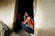 And most homes in this rural, Nepalese community do. Radhika Murmu drinks water from a biosand water filter inside the doorway to her family home.