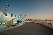 Morning sports at the Corniche.