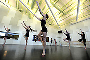 Student dancers learn new routines in a class in the Roe Green Center.
