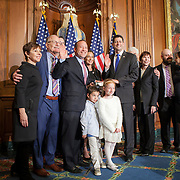 Representative Josh Gottheimer (D-NJ, 15) and his family met with Speaker Paul Ryan (R-WI, 1) during a ceremonial swearing-in on Wednesday, January 3, 2017.  Rep. Gottheimer was officially sworn in earlier in the day.  John Boal photo/for The Record