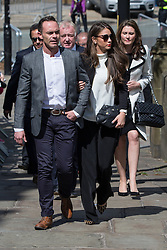 © Licensed to London News Pictures . 30/05/2015 . Manchester , UK . Daniel Brocklebank , Brooke Vincent arriving . A public memorial for Coronation Street actress Anne Kirkbride at Manchester Cathedral , who died on 19th January 2015 . Photo credit : Joel Goodman/LNP
