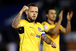 Jay Spearing of Bolton Wanderers celebrates the win over local rivals Bury - Mandatory by-line: Robbie Stephenson/JMP - 24/10/2016 - FOOTBALL - Gigg Lane - Bury, England - Bury v Bolton Wanderers - Sky Bet League One