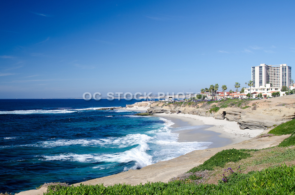 Scenic View of La Jolla Beach of San Diego County California