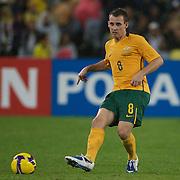 Luke Wilkshire in action during the 2010 Fifa World Cup Asian Qualifying match between Australia and Uzbekistan at Stadium Australia in Sydney, Australia on April 01, 2009. Australia won the match 2-0.  Photo Tim Clayton