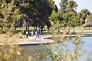 Fishing At El Dorado Regional Park In Long Beach California
