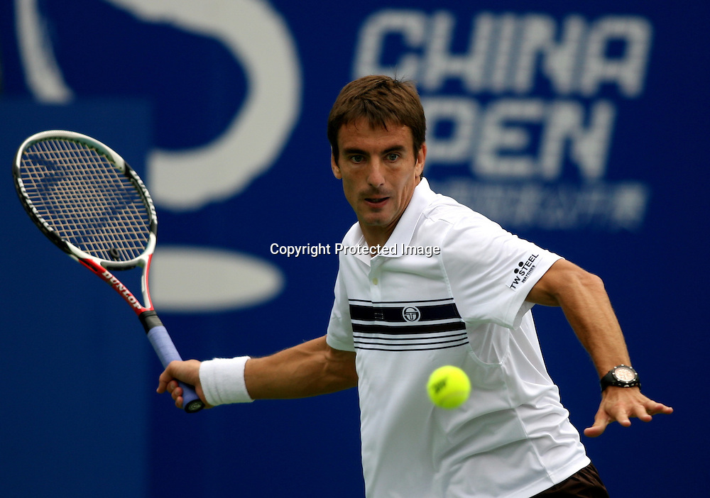 Sep 23, 2008, Beijing, China, Tommy Robredo of Spain 2:0 Guillermo Garcia-Lopez of Spain in the first round of China Open at the Beijing Tennis Center.