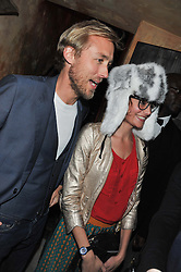 SAM & SUSIE PELLY at the launch party for the new nightclub Tonteria, 7-12 Sloane Square, London on 25th October 2012.