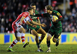Matthew Tait of Leicester Tigers - Photo mandatory by-line: Patrick Khachfe/JMP - Mobile: 07966 386802 13/02/2015 - SPORT - RUGBY UNION - Leicester - Welford Road - Leicester Tigers v Gloucester Rugby - Aviva Premiership