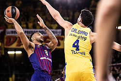 November 1, 2018 - Barcelona, Barcelona, Spain - Adam Hanga, #8 of FC Barcelona Lassa in actions during EuroLeague match between FC Barcelona Lassa and Maccabi Fox Tel Aviv  on November 01, 2018 at Palau Blaugrana, in Barcelona, Spain. (Credit Image: © AFP7 via ZUMA Wire)