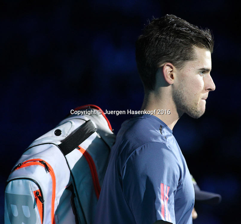 DOMINIC THIEM (AUT), ATP World Tour Finals, O2 Arena, London, England.<br /> <br /> Tennis - ATP World Tour Finals 2016 - ATP -  O2 Arena - London -  - Great Britain  - 17 November 2016. <br /> &copy; Juergen Hasenkopf/Grieves