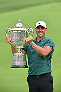 Brooks Koepka<br /> With the trophy after winning the US PGA Championship Bellerive USA 2018<br /> <br /> The 2018 PGA Championship was the 100th PGA Championship, held on August 9&ndash;12 at Bellerive Country Club in Town and Country, Missouri, a suburb west of St. Louis