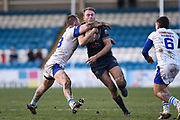 James Harrison (10) of Featherstone Rovers on the attack during the Betfred Championship match between Featherstone Rovers and Halifax RLFC at the Big Fellas Stadium, Featherstone, United Kingdom on 9 February 2020.