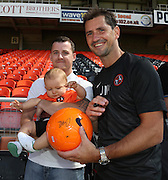 Jackie McNamara signs a ball - Dundee United open day at Tannadice<br /> <br />  - Pictures © David Young