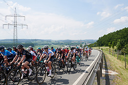 Peloton head into the hills outside of Gera at Lotto Thuringen Ladies Tour 2018 - Stage 4, a 118 km road race starting and finishing in Gera, Germany on May 31, 2018. Photo by Sean Robinson/Velofocus.com