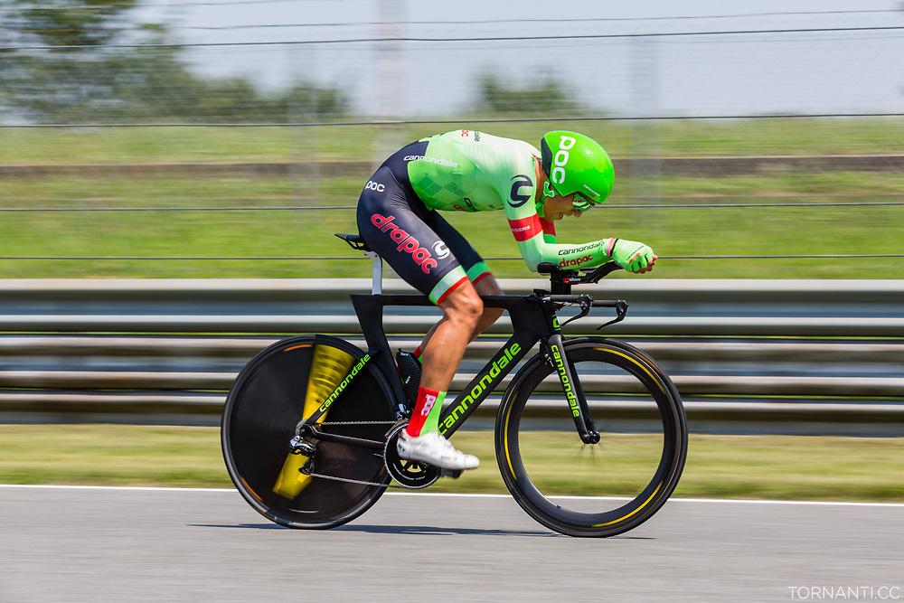 Giro D'Italia 2017 stage 21 (Monza - Milano / ITT / 29,3km) - Last stage<br /> KOREN Kristijan (SLO) (CDT)<br /> <br /> Photo: Tornanti.cc<br /> <br /> Autodromo Di Monza