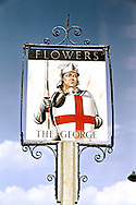 Pub Signs, The George, Tunbridge Wells, Kent, Britain