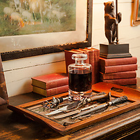 Rustic Cabin: Tray on top of sideboard