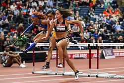 2020 USATF Indoor Championship<br /> Albuquerque, NM 2020-02-15<br /> photo credit: © 2020 Kevin Morris<br /> womens 60m hurdles final