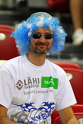 TIFOSI FINLANDESI.FINLANDIA - GERMANIA .PALLAVOLO TORNEO QUALIFICAZIONE OLIMPICA VOLLEY .SOFIA (BULGARIA) 09-05-2012.FOTO GALBIATI - RUBIN