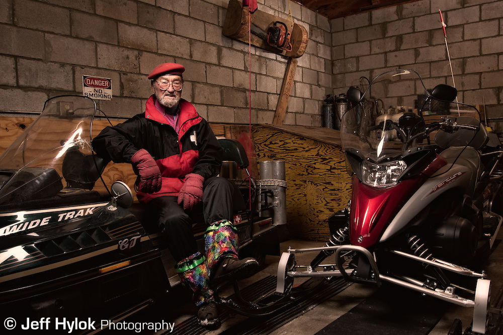 Boyd Sherwood, grandpa figure of the Pajarito Mountain Ski Patrol. Keeper of the patrol sleds
