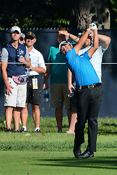 August 9, 2018 - Town And Country, Missouri, U.S - HIDEKI MATSUYAMA from Japan hits from the 14th fairway during round one of the 100th PGA Championship on Thursday, August 8, 2018, held at Bellerive Country Club in Town and Country, MO (Photo credit Richard Ulreich / ZUMA Press) (Credit Image: © Richard Ulreich via ZUMA Wire)