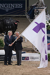 FEI flag, De Vos Ingmar, (BEL) <br />  Longines FEI World Cup™ Jumping Final Las Vegas 2015<br />  © Hippo Foto - Dirk Caremans<br /> Final III round 2 - 20/04/15