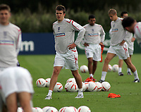 Photo: Paul Thomas.<br /> England training at Carrington. 30/08/2006. <br /> <br /> Michael Carrick.