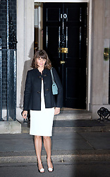© London News Pictures. 15/02/2013. London, UK.  Former supermodel Helena Christensen arriving at 10 Downing Street for a London Fashion Week launch party hosted by Samantha Cameron on February 15, 2013. Photo credit : Ben Cawthra/LNP