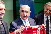 Adriano Galliani, new CEO, to the Press conference of SS Monza 1912, Berlusconi's family holding company Fininvest announced Friday it had acquired 100 percent of Serie C club Monza on September 28, 2018 in Monza, Italy - Photo Morgese - Rossini / ProSportsImages / DPPI