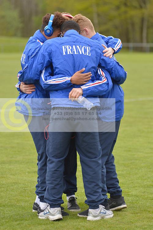 Behind the scenes, FRA v CZE at the 2016 Football des Sourds France V Tcheque Republique, Igny,