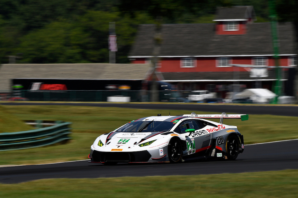 26-28 August, 2016, Alton, Virginia USA<br /> 27, Lamborghini, Huracan GT3, GTD, Lawrence DeGeorge, Cedric Sbirrazzuoli<br /> &copy;2016, Scott R LePage <br /> LAT Photo USA
