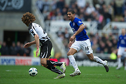 NEWCASTLE, ENGLAND - Saturday, March 5, 2011: Everton's Jermaine Beckford in action against Newcastle United during the Premiership match at St. James' Park. (Photo by David Rawcliffe/Propaganda)