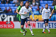 Bolton Wanderers striker Gary Madine (14)  during the EFL Sky Bet League 1 match between Bolton Wanderers and AFC Wimbledon at the Macron Stadium, Bolton, England on 4 March 2017. Photo by Simon Davies.