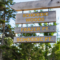 Bike trails near Schoodic Woods in Maine's Acadia National Park.