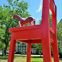 Big Chair with Horse Donald Lipski in Denver, Colorado<br />