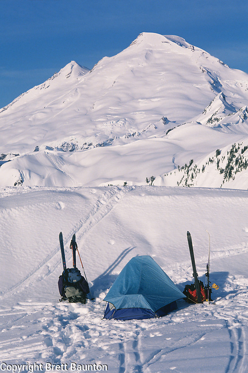 Mt. Baker Wilderness Area, Winter Camping, North Cascades. WA