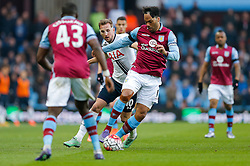 Joleon Lescott of Aston Villa is challenged by Harry Kane of Tottenham Hotspur - Mandatory byline: Rogan Thomson/JMP - 13/03/2016 - FOOTBALL - Villa Park Stadium - Birmingham, England - Aston Villa v Tottenham Hotspur - Barclays Premier League.