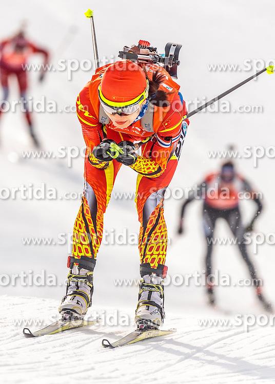 12.02.2017, Biathlonarena, Hochfilzen, AUT, IBU Weltmeisterschaften Biathlon, Hochfilzen 2017, Verfolgung Damen, im Bild Jialin Tang (CHN) // Jialin Tang of China // during Ladies pursuit of the IBU Biathlon World Championships at the Biathlonarena in Hochfilzen, Austria on 2017/02/12. EXPA Pictures © 2017, PhotoCredit: EXPA/ JFK