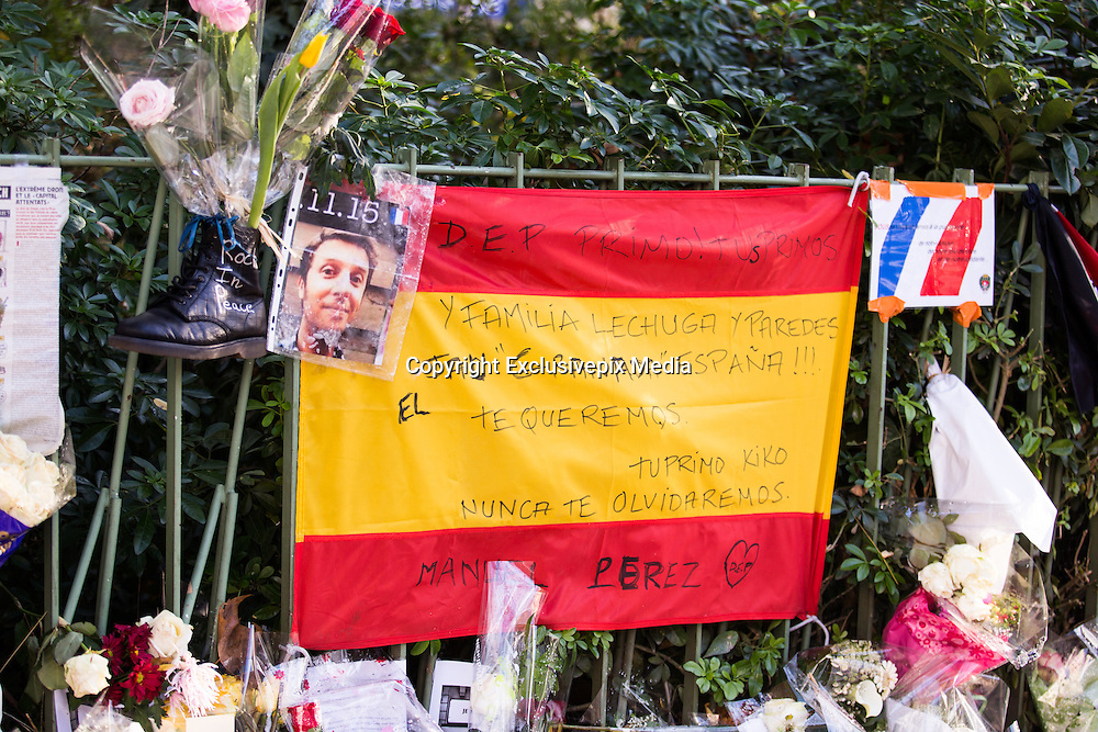 ATTACKS OF PARIS - FLAGS OF THE WORLD FACING BATACLAN<br /> ©Exclusivepix Media