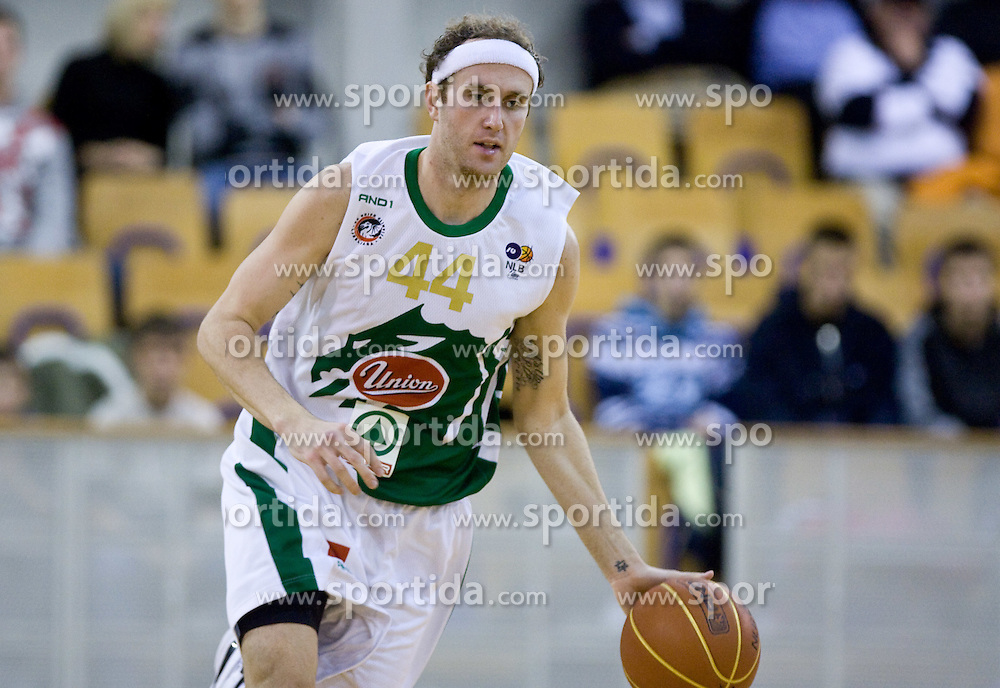 Matt Walsh (44) of Olimpija at basketball match of 4th Round of NLB League between KK Union Olimpija and KK Crvena zvezda,  on October 24, 2009, Arena Tivoli, Ljubljana, Slovenia.  Union Olimpija won 94:76.  (Photo by Vid Ponikvar / Sportida)