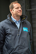 Christian Prudhomme on stage in Leeds during stage four of the Tour de Yorkshire from Halifax to Leeds, , United Kingdom on 4 May 2019.
