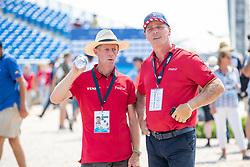 TEBBEL Rene (Trainer), EHNING Marcus (GER)<br /> Tryon - FEI World Equestrian Games™ 2018<br /> 2. Qualifikation Teamwertung 2. Runde<br /> 21. September 2018<br /> © www.sportfotos-lafrentz.de/Stefan Lafrentz