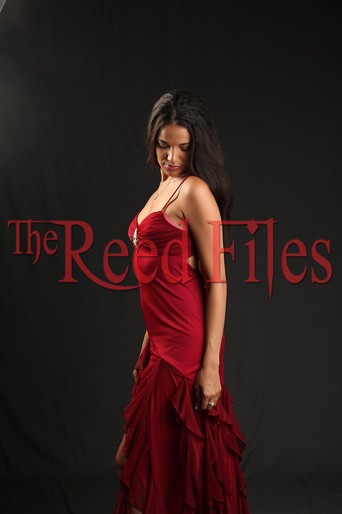 The Reed Files contemporary woman stock image