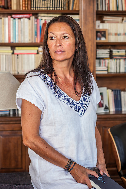 Agnès Olive - French writer at home - Marseille - France 2011/07/28 - © Denis Dalmasso
