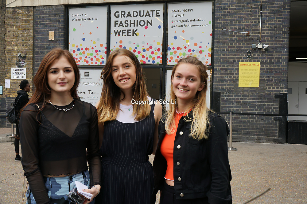 London,England,UK. 5th June 2017. Stores exhobition at Graduate Fashion Week 2017 Day 2 at The Old Truman Brewery. by See Li
