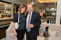 First look of the new Samsung Curved UHD TV at the Candy & Candy penthouse at No. 1 Arlington Street, London - an exclusive Samsung BlueHouse event held on 27th February 2014.<br /> Picture shows:- Fushia Kate Sumner and Andy Griffiths, President Samsung UK