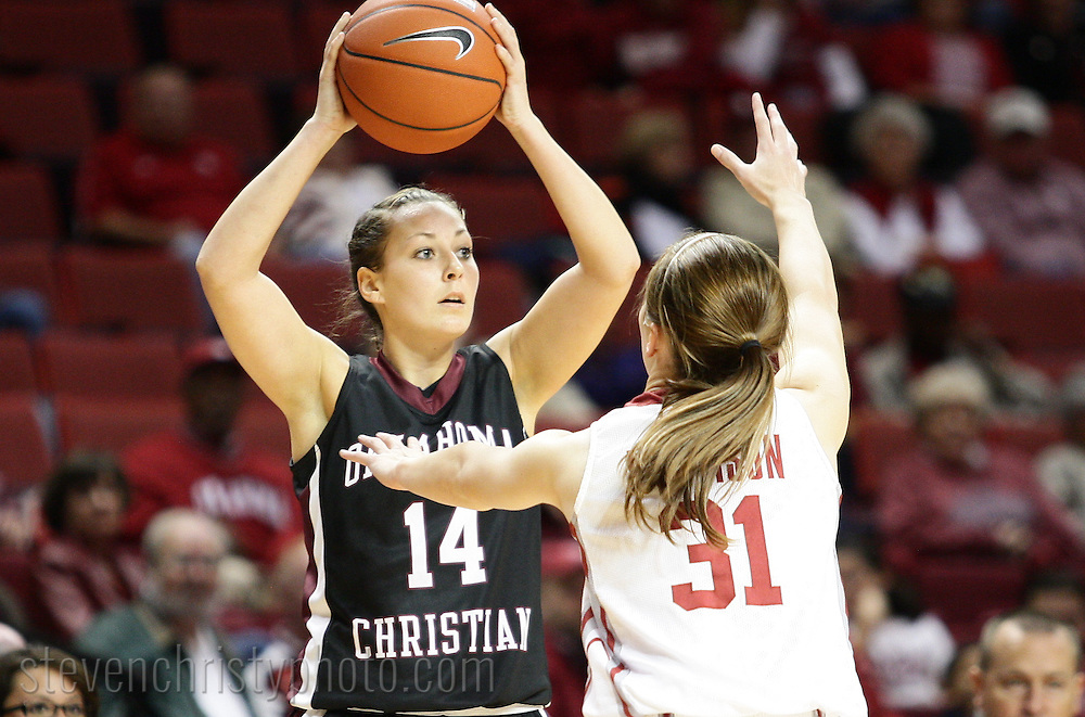 November 4, 2010: The Oklahoma Christian University Lady Eagles play an exhibition game against the University of Oklahoma Sooners at the Lloyd Noble Center in Norman, OK.