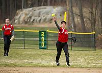 St Paul's School varsity softball.  ©2018 Karen Bobotas Photographer